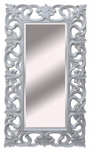 Dekoracyjne Lustro Kryształowe W Białej Ażurowej Ramie 92x167