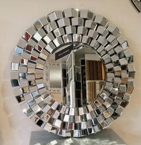 Lustro Dekoracyjne Okrągłe Rama Lustrzana 100x100