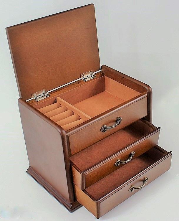 37b77fdb77bb Urocza szkatułka na biżuterię drewniana 22x16x15 Lustra Smaza