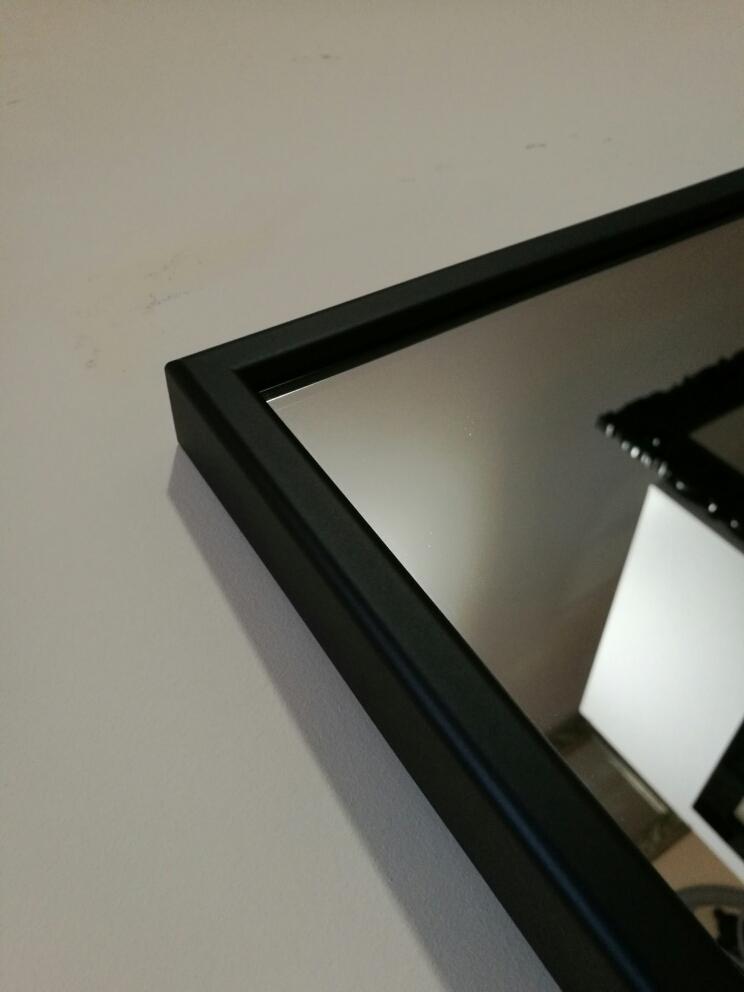 Proste Lustro W Czarnej Aluminiowej Ramie Różne Wymiary Lustra Smaza
