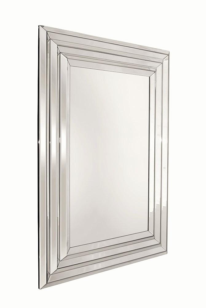 Prostokątne Lustro Dekoracyjne W Lustrzanej Ramie 110x80