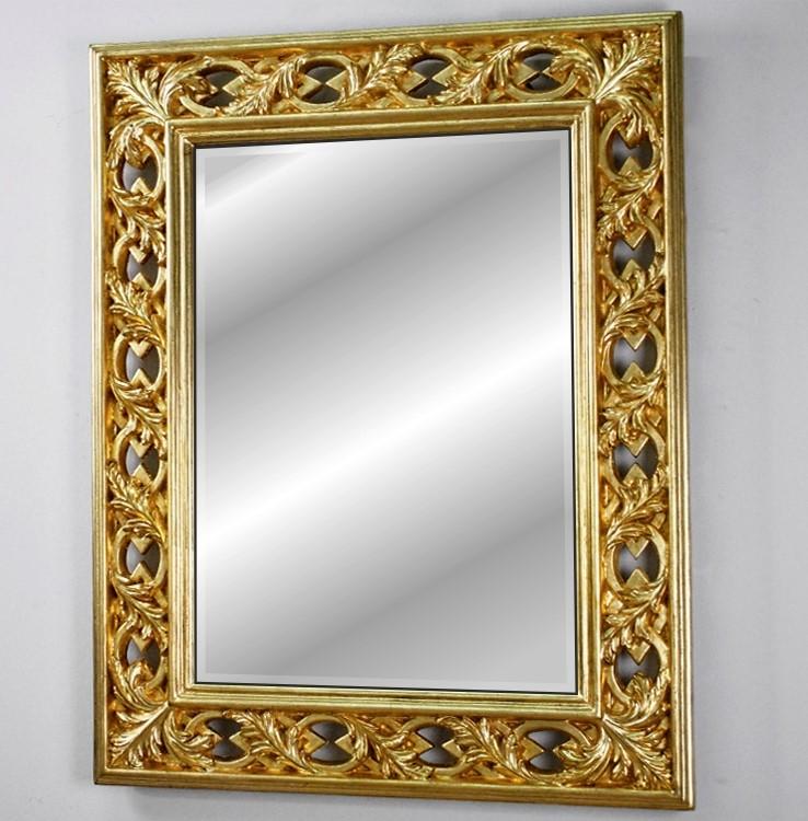 Niesamowite Ażurowe lustro złote 75x95 Lustra Smaza EG34
