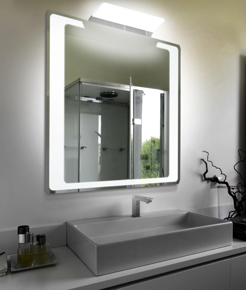Lustro łazienkowe Led Z Dodatkowym Oświetleniem Sm90